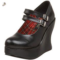 Womens Pleaser BRA08 Black High Heel Platform Wedges Mary Jane Shoes Size 6 - Summitfashions pumps for women (*Amazon Partner-Link)