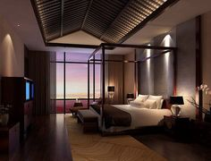 Elegant Chinese Feng Shui bedroom Interior Design Ideas Picture ...