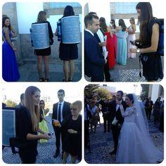 Mais um casamento onde a Onecup distribuiu champanhe e sumo de laranja aos convidados