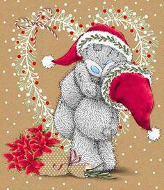 Christmas Teddy Bear, Noel Christmas, Christmas Greetings, Vintage Christmas, Christmas Crafts, Xmas, Tatty Teddy, Christmas Graphics, Christmas Clipart