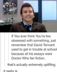 David Tennant is a fanboy