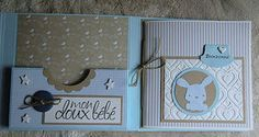 tutorial mini album (naissance) Album Photo Scrapbooking, 12x12 Scrapbook, Mini Scrapbook Albums, Pen Pal Letters, Baby Album, Cool Books, Baby Cards, Scrapbooks, New Baby Products