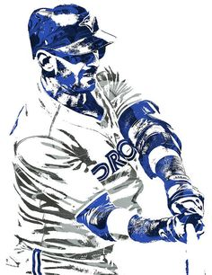 Jose Bautista TORONTO BLUE JAYS PIXEL ART Art Print by Joe Hamilton. All prints are professionally printed, packaged, and shipped within 3 - 4 business days. Baseball Art, Rockies Baseball, Joe Hamilton, Thing 1, Homemade Black, Diabetic Dog, Toronto Blue Jays, Video Games For Kids, Black Girl Fashion