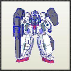 GN-005 Gundam Virtue Ver.2 Free Paper Model Download - http://www.papercraftsquare.com/gn-005-gundam-virtue-ver-2-free-paper-model-download.html