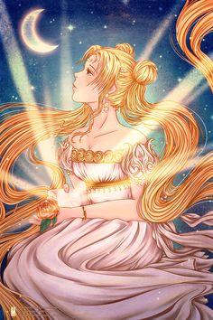 Goddess Moon by Clange-kaze.deviantart.com on @DeviantArt