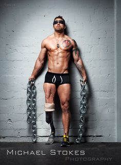Sexy photos of #veteran amputees by Michael Stokes defy stereotypes and showcase the beauty of their new bodies. #photography