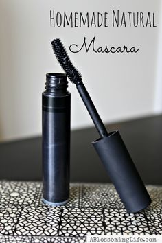 Homemade Natural Mascara. Did you know you can make your own mascara, naturally? You can!! This stuff is great. It moisturizes your lashes, keeps them healthy and soft, and doesn't ever flake.