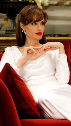 "Angelina Jolie by circle ""Repinned by Keva xo""."