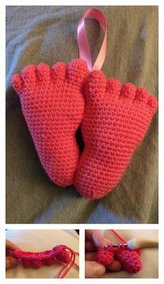 Amigurumi Hanging Baby Feet Free Crochet Pattern