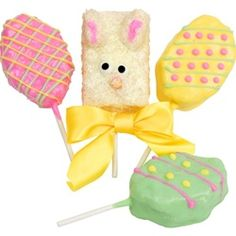 Gift Set of Four Easter Krispie Treats on Lollipop Sticks