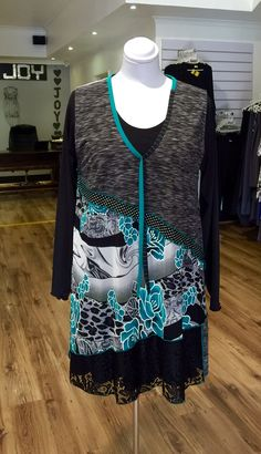 Emerald green roses Overvest with black Bon Bon Miracle undertop, designed and manufactured by Hayley Joy. Plus Size Womens Clothing, Plus Size Fashion, Clothes For Women, Joy Clothing, Real Women, Emerald Green, Roses, Blouse, Shopping