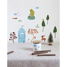 Décoration murale pour les chambres d'enfants : stickers Camilla Engman pour Poisson Bulle