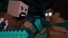 Notch vs Herobrine - Minecraft Fight Animation [The Angels Among Demons]