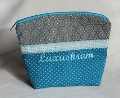 Schminktäschchen Lixuskram braun türkies  von byGretchen auf DaWanda.com