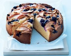 Made this today! Beautiful & simple: Donna hays apple and blueberry cake