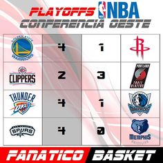 PLAYOFFS CONFERENCIA OESTE NBA #FanaticoBasket #Pasion #Por #El #Baloncesto #NBA #ThisisWhyWePlay #Basket #Basketball  #2016 #Sigueme #Playoffs