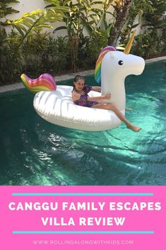All about our stay at the extra kid friendly Canggu Family Escapes Villa in Canggu, Bali Bali With Kids, Travel With Kids, Bali Family Holidays, Wooden Pool, Canggu Bali, Pool Fence, Pool Toys, Bali Travel, Cool Pools