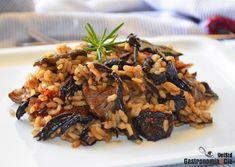 Arroz con seta de cardo y trompeta negra Bolet, Rice Pasta, How To Cook Rice, Meatless Monday, Empanadas, Couscous, Kung Pao Chicken, Quinoa, Risotto