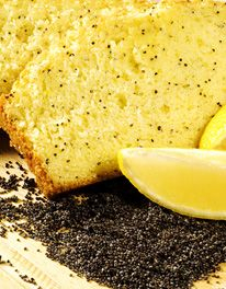 Minted lemon and poppy seed tray-bake