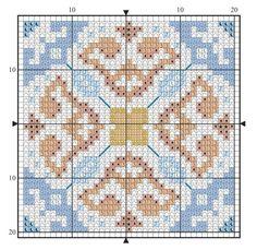 Cross Stitch Embroidery, Hand Embroidery, Cross Stitch Patterns, Crochet Patterns, Morrocan Patterns, Moroccan Tiles, Bead Crochet Rope, Ribbon Art, Crochet Diagram