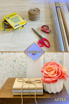 Tap for more easy DIYs that will give your decor a fresh update for Spring! Diy Crafts For Gifts, Crafts For Kids, Paper Crafts, Crafty Craft, Crafting, Napkin Cards, Spray Paint Colors, Paris Decor, Sewing Room Organization