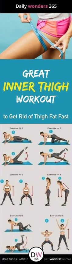 Inner thigh slimming workouts Here are easy best inner thigh exercises to get rid of thigh fat and tone legs fast at home by evaritz by evaritz Fitness Workouts, Easy Workouts, Workout Routines, Easy Fitness, Health Fitness, Lower Body Fat, Lose Thigh Fat, Cardio Training, Thigh Exercises