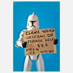 Was never a Star Wars follower, but this had me cracking up!!!!    Clone Vet 8x10 now featured on Fab.