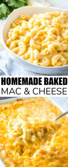 Creamy, cheesy and delicious this Homemade Baked Mac & Cheese is a delicious weeknight dinner recipe that feeds a crowd and is completely addicting. cheesy pasta dinnertime foodie macandcheese creamy hearty weeknightmeal via 532269249709295434 Homemade Mac And Cheese Recipe Baked, Macaroni Cheese Recipes, Easy Cheesy Mac And Cheese Recipe, Creamiest Mac And Cheese, Cheesy Pasta Recipes, Homemade Mac And Cheese Recipe With Cream Cheese, Best Ever Mac And Cheese Recipe, Mac Abd Cheese, Mac N Cheese Bake