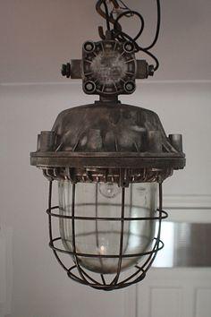 Vintage old industrial lamp light – We collect similar ones – Only/Once – www.onlyonceshop.com