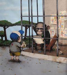 AdictaMente: Dran, el grafitero francés que está siendo comparado con Banksy.