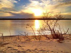 Mississippi River Sandbar - Greenville, Mississippi - Mississippi Delta Sunset - Order prints from www.flatoutdelta.com -  © 2013 John Montfort Jones