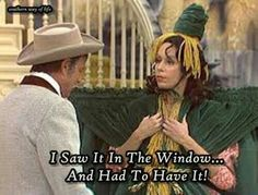 Carol Burnett Show... Gone with the wind I love the story behind this costume!