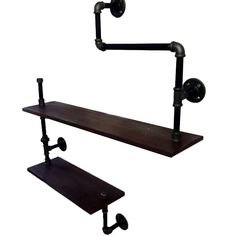 Bathroom Hardware Bathroom Shelves Loft American Country Style Wrought Iron Wall Shelf Shelves Retro Industrial Pipes Simple Fashion Display-z30 Easy To Use
