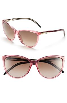 These pink cat-eye Gucci sunglasses are on the lust list.