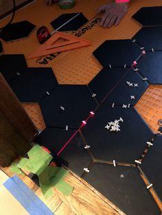 How to lay big hexagon tile!: Week 3 of the One Room Challenge / Create / Enjoy Large Hexagon Floor Tile, Hexagon Tiles, Tile Floor, Hex Tile, Tile Saw, Mosaic Tiles, Tile Leveling System, Hallway Flooring, Easy Animals
