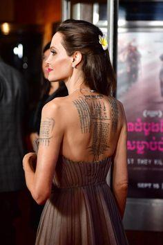 Angelina Jolie steht auf großflächige Tattoos #angelinajolie #tattoo
