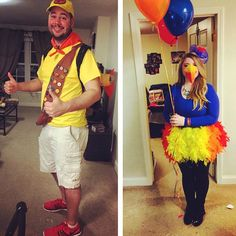 Kevin and Russell. Halloween Run, Fairy Halloween Costumes, Adult Halloween Party, Cute Halloween Costumes, Couple Halloween, Disney Halloween, Holidays Halloween, Halloween Projects, Halloween Stuff