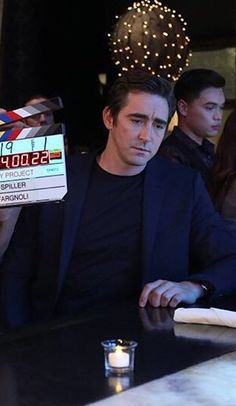 #LeePace and Mindy Kaling behind the scenes on The Mindy Project.  Airs on Tuesday, January 13, 2015.