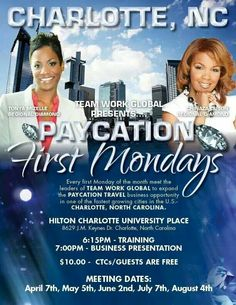Who do you know in Charlotte,NC , the is looking to travel at discount prices.    #paycation #itpaystotravel #iliv2travel