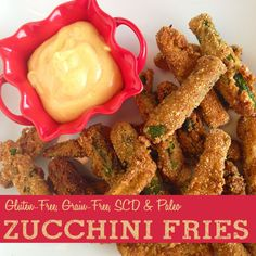 Zucchini Fries!!! (& an amazing lemon pepper dip!) (SCD, Gluten-Free & Paleo)