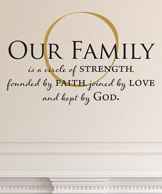 Look at this #zulilyfind! 'Our Family Is Kept By God' Wall Quotes™ Decal #zulilyfinds