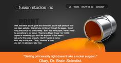 Print page Fusion Studios Printed Pages, Keep In Mind, Studios, Website, Design