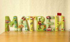 МАТВЕЙ - именная гирлянда для комнаты мальчика. Banners, Felt Wreath, Felt Diy, Letters And Numbers, Nursery Decor, Garland, Dolls, Names, Wreaths