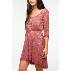 Pins And Needles Lace High/Low Dress ($69) via Polyvore