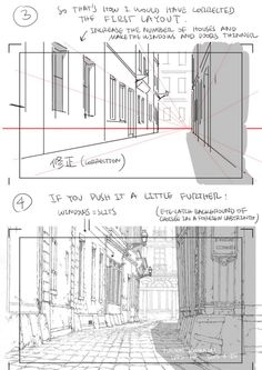 PS: pqxv tbfoa — A master post of Thomas Romain's art tutorials. Perspective Drawing Lessons, Perspective Sketch, Background Drawing, Animation Background, Drawing Techniques, Drawing Tips, Thomas Romain, Poses Manga, Bg Design