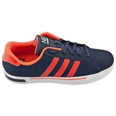 #adidas Daily Vulc II Men's Shoe in Navy and Red comes in a classic sneaker