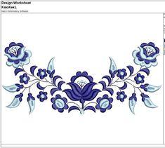 Items similar to Blue Hungarian Flowers Machine Embroidery Design 198 x 90 mm on Etsy Machine Embroidery Designs, Embroidery Patterns, Hand Embroidery, Crochet Doll Tutorial, Stencil Diy, Border Design, Baby Girl Frocks, Flower Art, Folk Art
