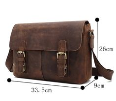 Genda 2Archer Leather Hiking Traveling Satchel Shoulder Messenger Bag(Dark Brown) >>> See this great product. (This is an Amazon Affiliate link and I receive a commission for the sales)