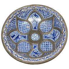 1stdibs | Moroccan Ceramic Plate from Fez