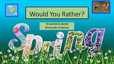 May Themes, Pe Class, Kids Fitness, Gym Games, Workout Videos, Workouts, Spring Theme, Brain Breaks, Would You Rather